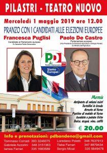 Pilastri di Bondeno (FE) - Pranzo del Primo Maggio @ Teatro Nuovo