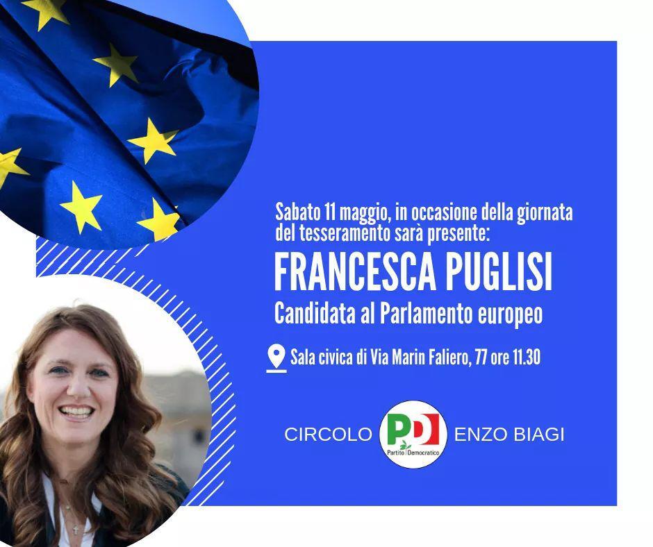 11 maggio Verona Elezioni Europee Francesca Puglisi