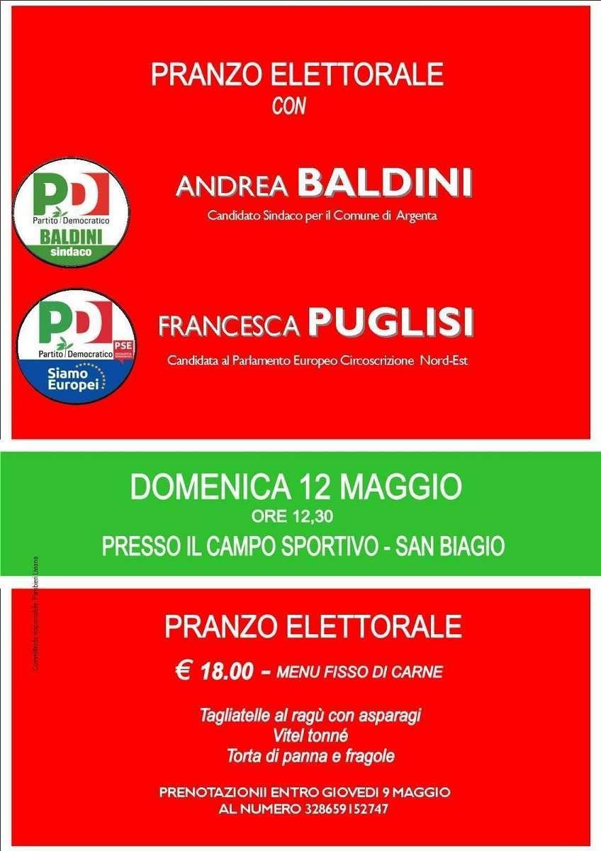 12 maggio Argenta Elezioni Europee Francesca Puglisi