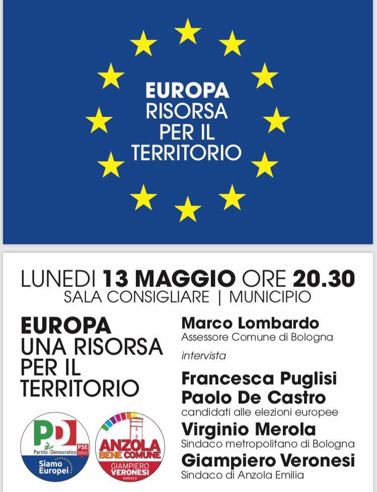 13 maggio Anzola Elezioni Europee Francesca Puglisi