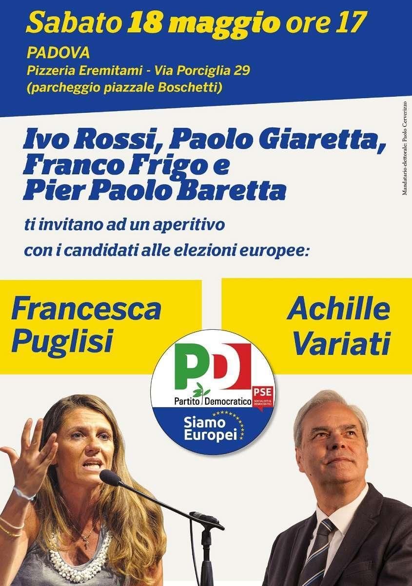 18 maggio Padova Elezioni Europee Francesca Puglisi