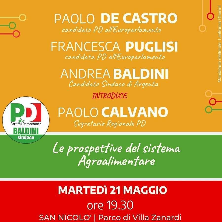 21 maggio San Nicolo Elezioni Europee Francesca Puglisi