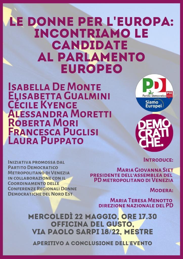 22 maggio Mestre Elezioni Europee Francesca Puglisi