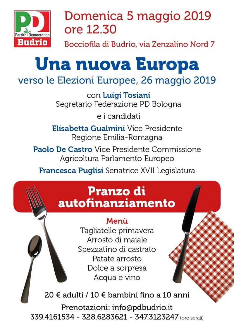 5 maggio Budrio Pranzo sociale Elezioni Europee Francesca Puglisi