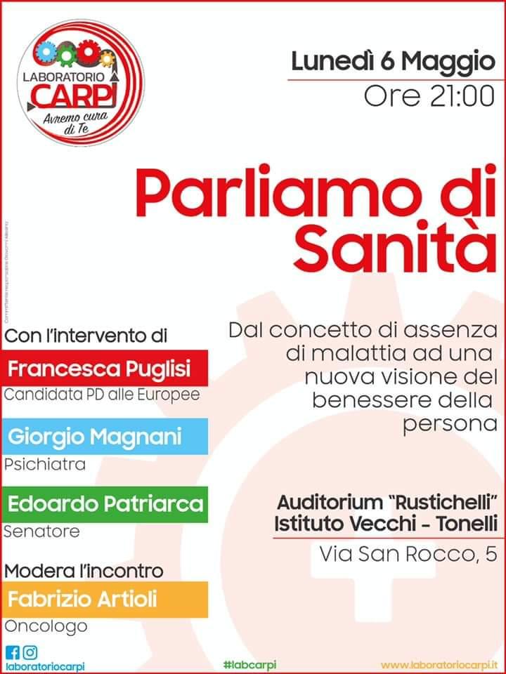 low priced a4256 2ad27 Carpi - Parliamo di sanità - Francesca Puglisi