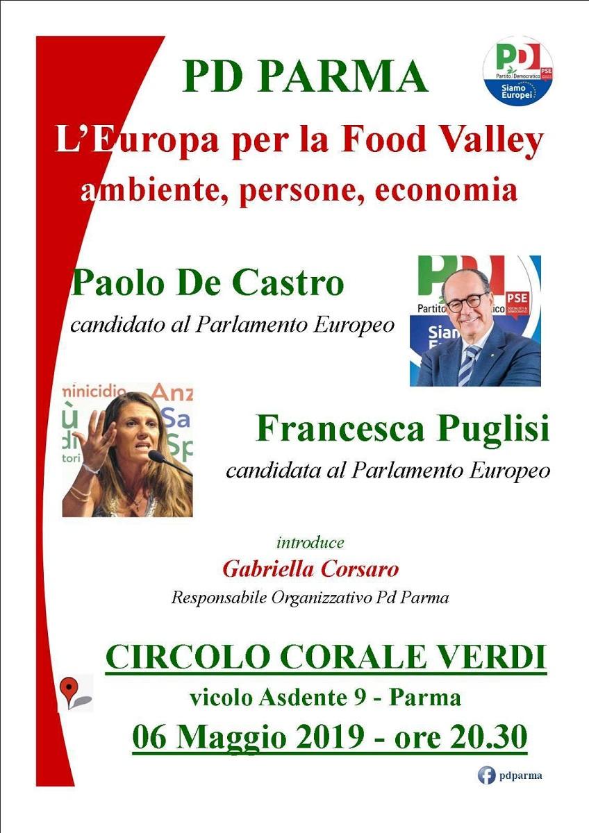 6 maggio elezioni europee Parma Francesca Puglisi