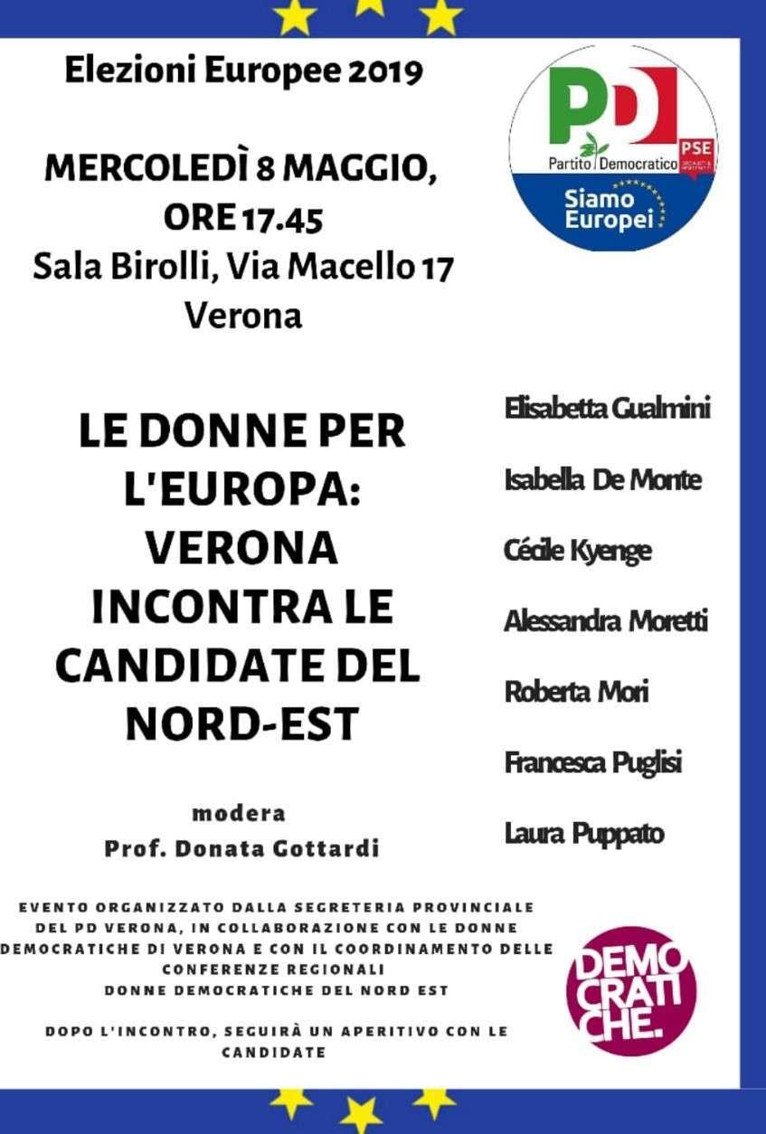 8 maggio Verona Donne Elezioni Europee Francesca Puglisi